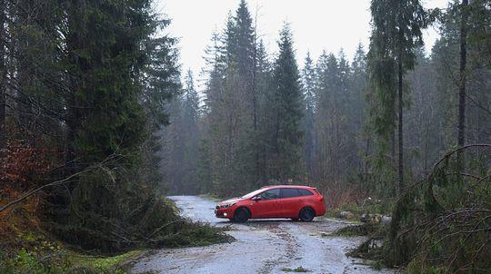 Ždiar počasie víchrica škody doprava cesta auto stromy kalamita