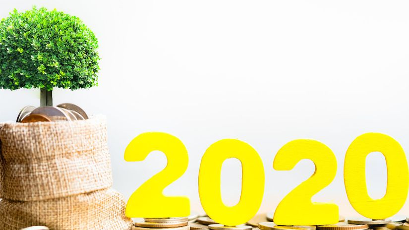2020, peniaze, stromček