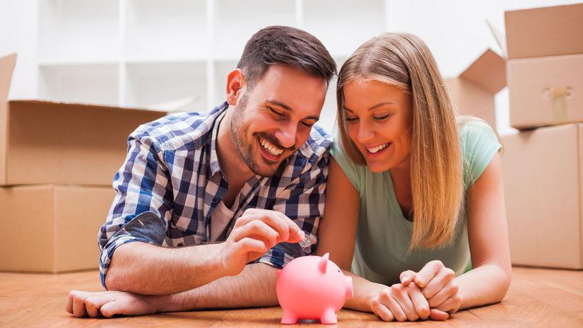 muž, žena, úspory, šetrenie, prasiatko
