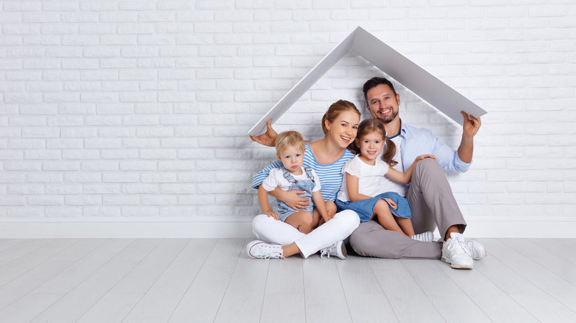 rodina, strecha, dom, domov, bývanie