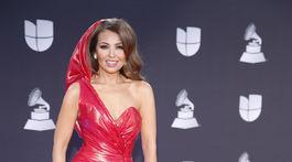 Speváčka Thalia na vyhlásení cien Latin Grammy Awards.