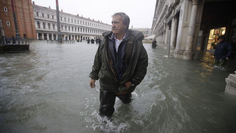 taliansko, benátky, námeste svätého marka, záplavy
