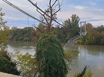 francúzsko, most, zrútenie, rieka