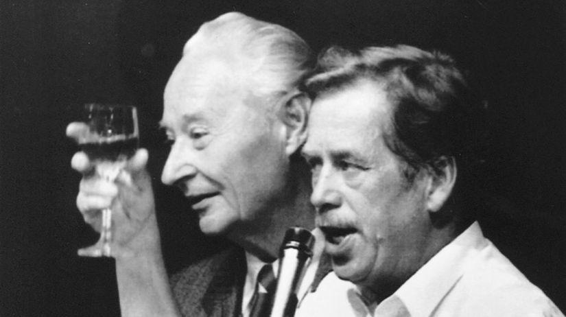 Havel a Dubček 1989
