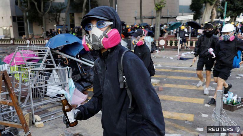 Hong Kong / protest / demonštrant /