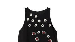 Dámske šaty bez rukávov s jemnou výšivkou Desigual. Predávajú sa za 89,95 eura.