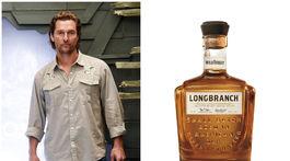 Herec Matthew McConaughey a fľaša jeho whisky Longbranch, ktorá má vzdávať poctu jeho rodisku a koreňom v Kentucky v Texase.