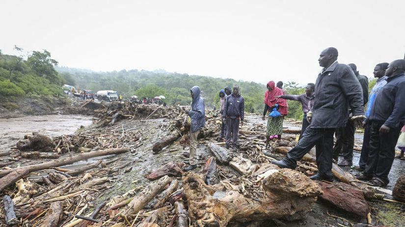 Keňa lejaky záplavy počasie mŕtvi zranení