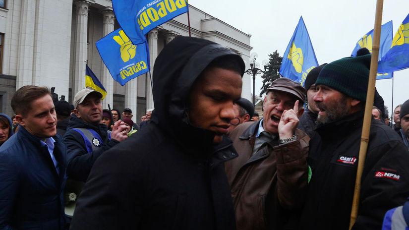 Ukrajina / demonštranti /
