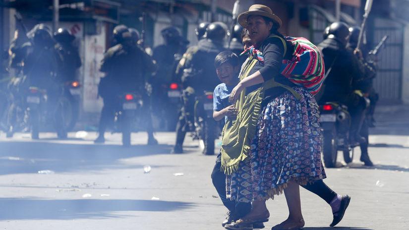 Bolívia prezidentka dočasná nepokoje protesty