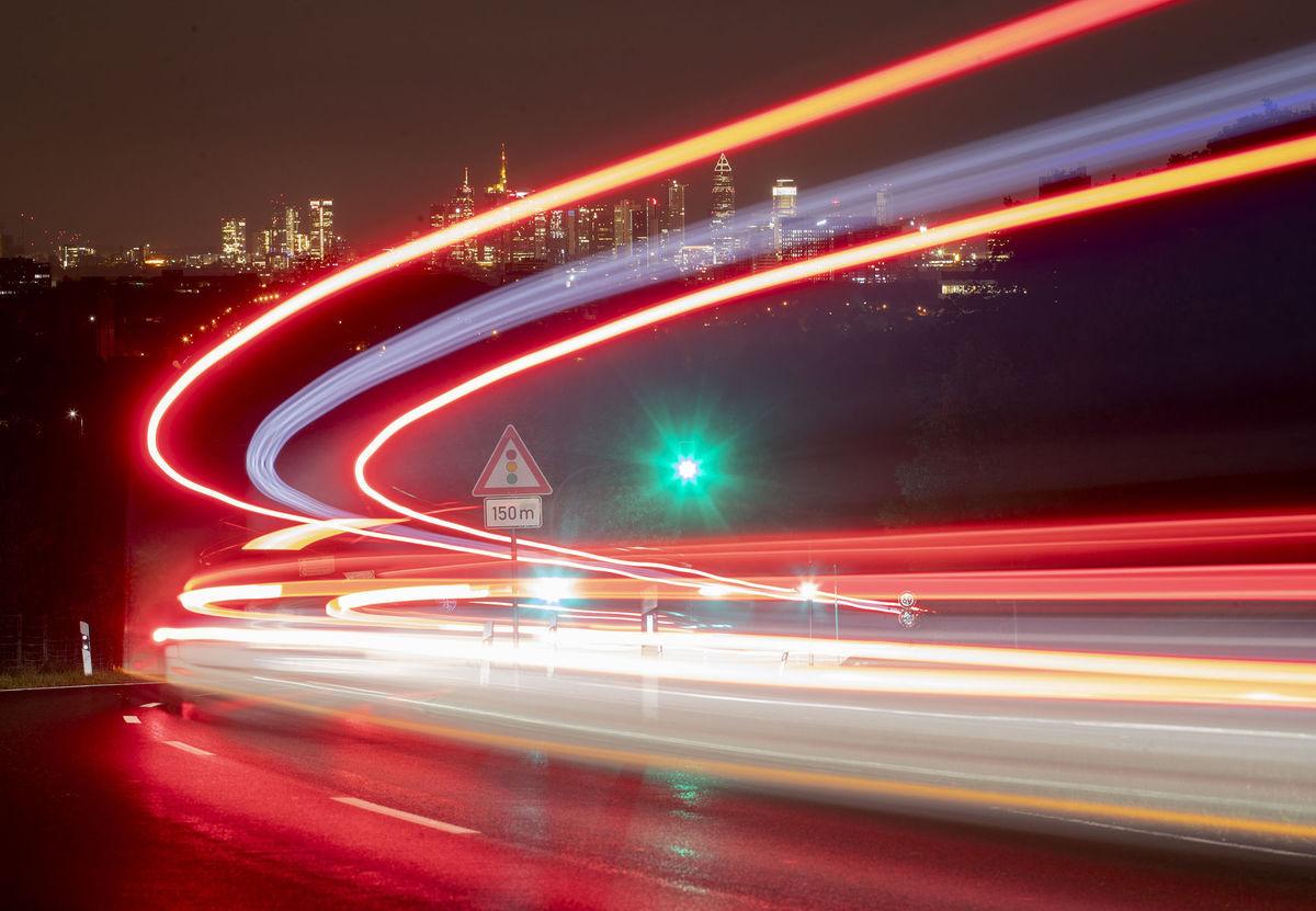 cesta, doprava, cestovanie, svetlá, diaľnica, Nemecko
