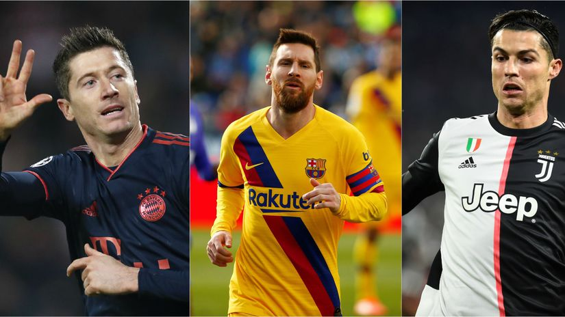 Lewandowski, Messi, Ronaldo.