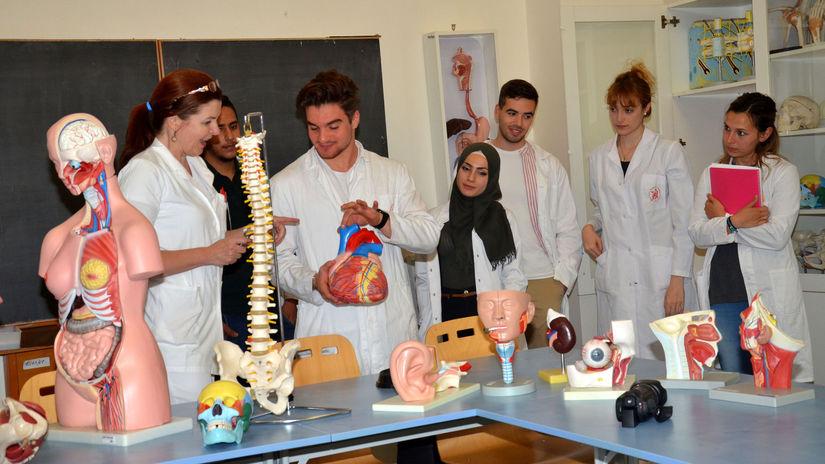 študenti, medicína, výučba