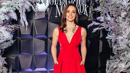Herečka Gabriela Marcinková stavila na červenú kreáciu a vyzerala výnimočne.