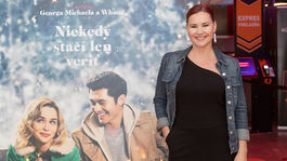 Herečka Zuzana Haasová na premiére filmu Last Christmas.