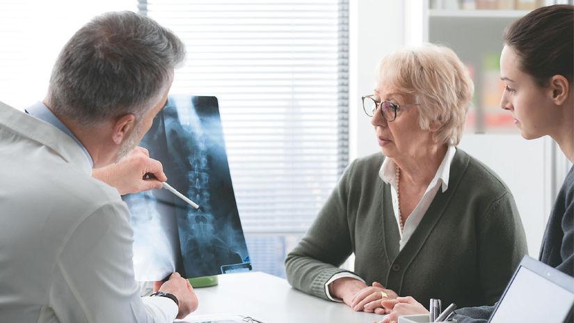 lekár, kosť, chrbtica, rontgen, osteoporóza