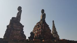 Wat Chai Watthanaram v thajskom meste Ayutthaya.