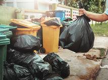 odpadky, vrecia, skládka