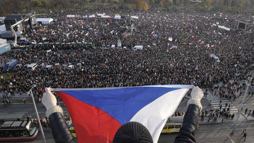 ČR Praha Protest Babiš Letná