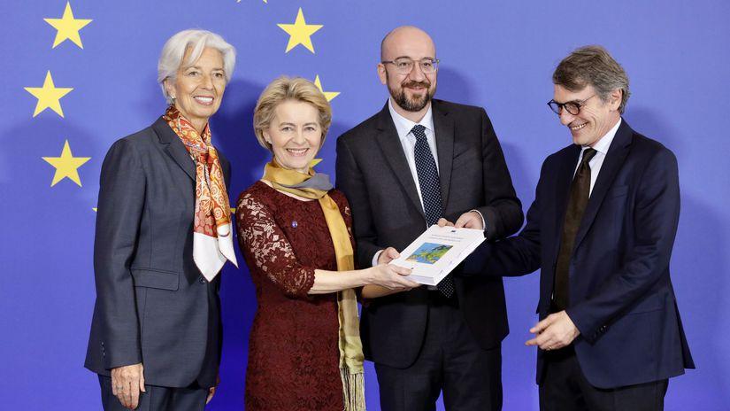EÚ EK Brusel  Leyenová Michel