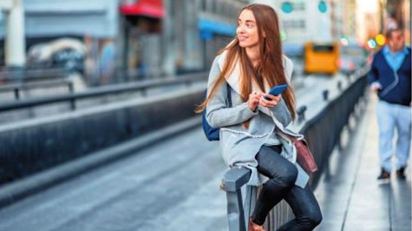 mobil, IT, dievča, mládež, počítač