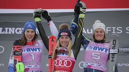 Vlhová - Shiffrinová - Swenn-Larssonová