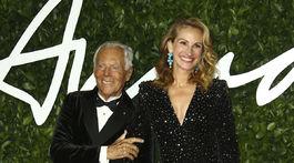 Dizajnér Giorgio Armani a herečka Julia Roberts (samozrejme, v jeho kreácii).