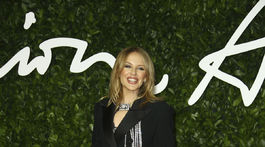 Speváčka Kylie Minogue pôsobila až prekvapivo ležérne.