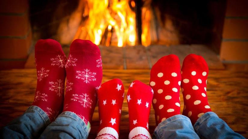 krb, ponožky, Vianoce