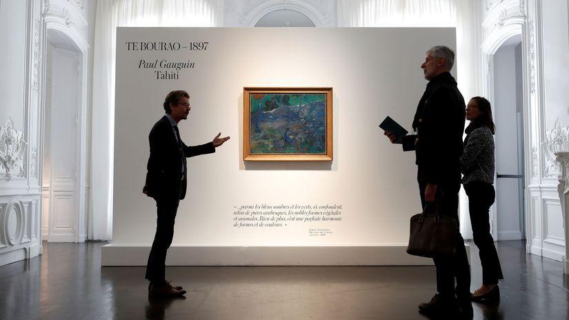 Paul Gauguin / maľba / obraz / aukcia / Te...