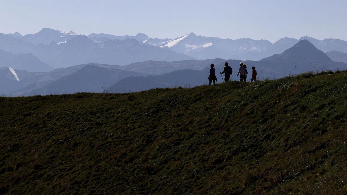 Rakúsko, Alpy, Kitzbuehler, turisti, turistika, hory,