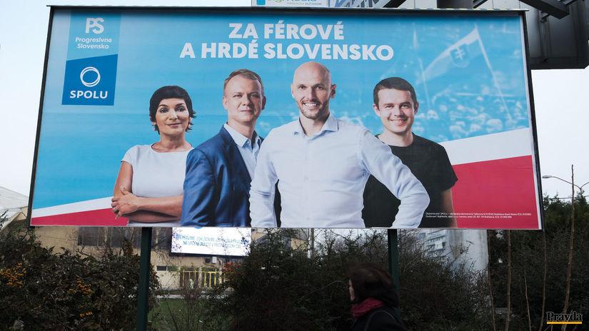 PS/Spolu kampaň bilboard 2020 voľby
