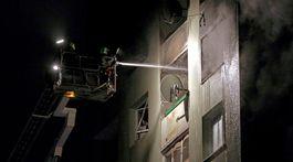 MOSR: Pokraèovanie v hasení bytovky v Prešove