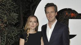 Shauna Robertson a jej manžel - herec a režisér Edward Norton.