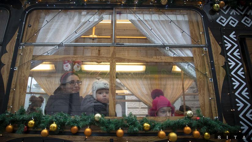 vianočná električka, bratislava