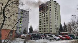 Výbuch plynu v bytovom dome v Prešove požiar