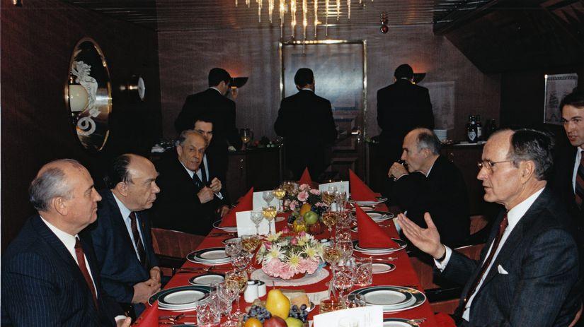 Michail Gorbačov, George W. Bush, Malta,...