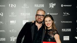 Moderátorka Hana Rapantová a dizajnér Fero Mikloško.