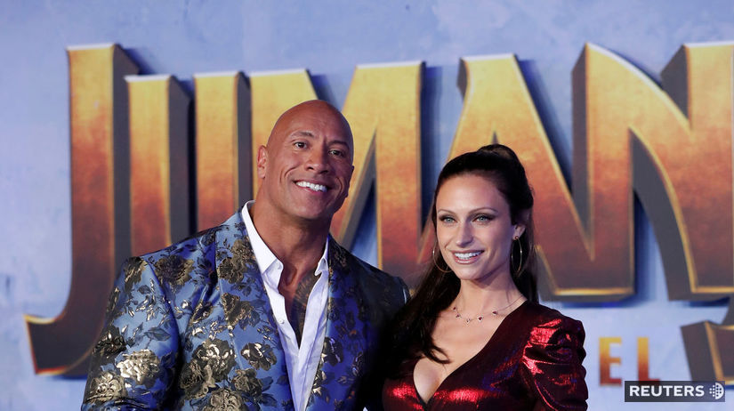 Herec Dwayne Johnson a jeho manželka Lauren...