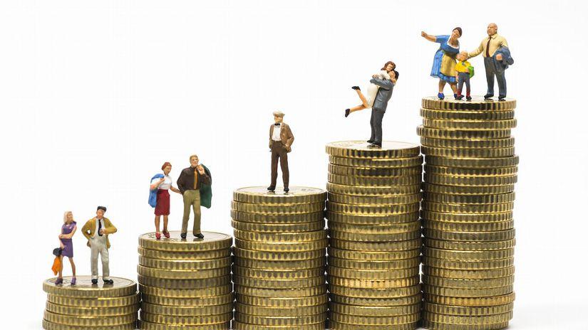 ľudia, figúrky, peniaze, mince