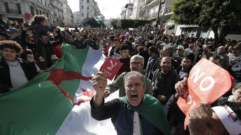 Alžírsko voľby prezident protesty