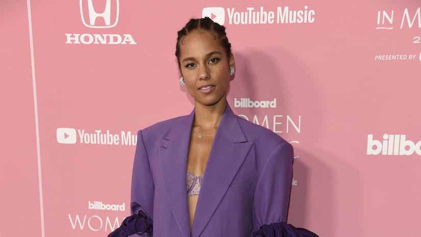 Speváčka Alicia Keys na akcii Billboard's Women...