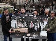 Srbski novinari protest