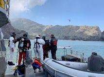 Nový Zéland sopka