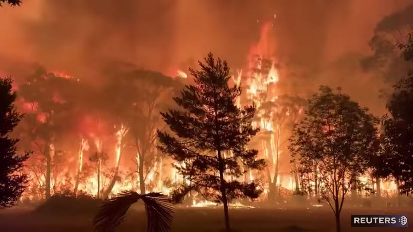 austrália, lesný požiar