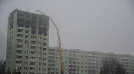 búranie, panelák, Prešov