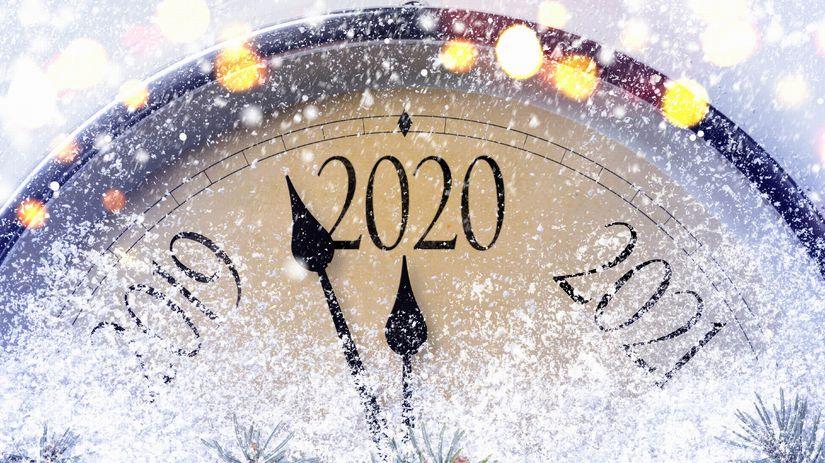 2020, hodiny, sneh