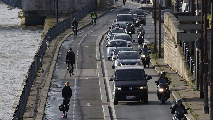 francúzsko, štrajk, paríž, doprava, zápcha