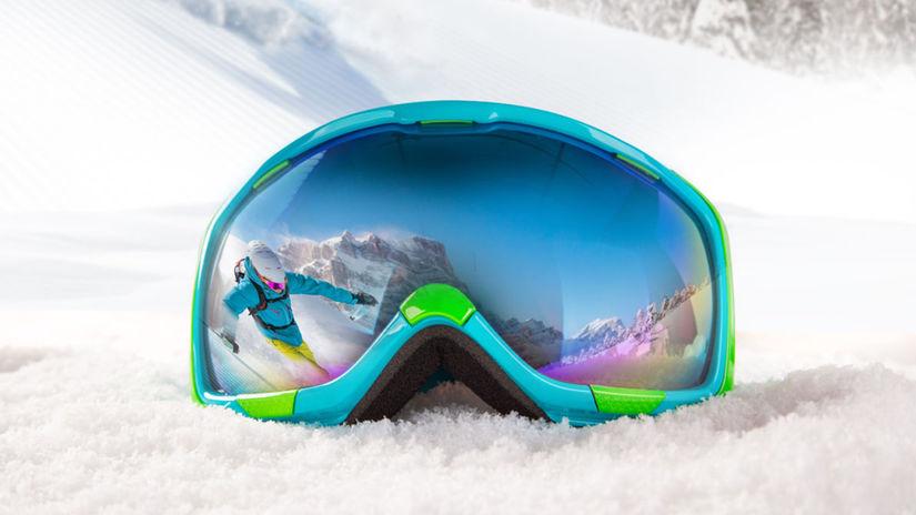 lyžovanie, lyžiarske okuliare, sneh, hory