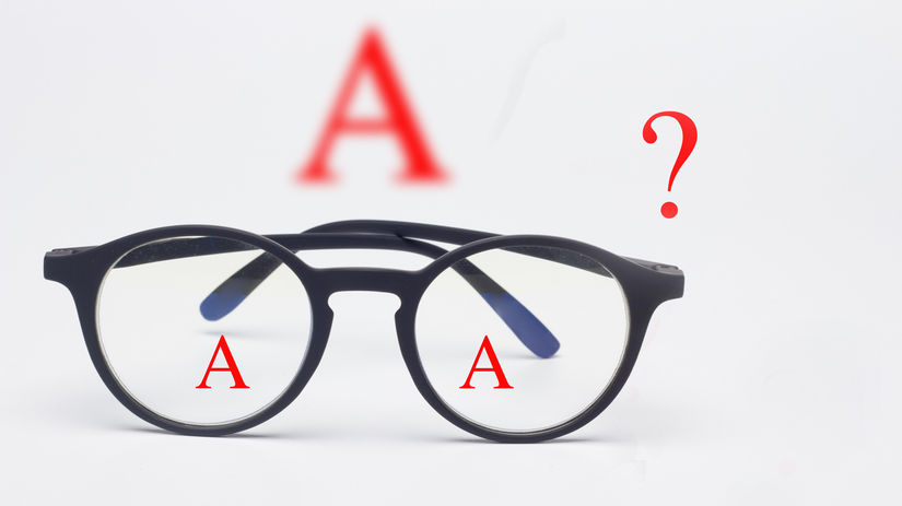 okuliare, zrak, problém